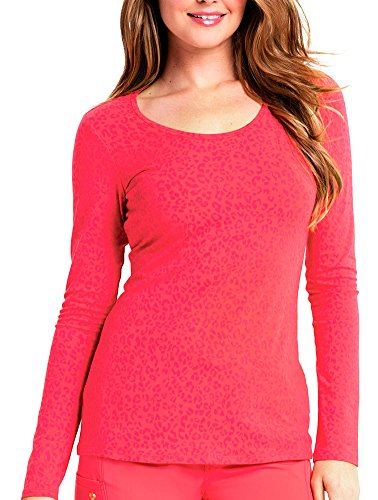 Careisma By Sofia Vergara Women's Reese Long Sleeve Knit T-Shirt X-Large So Haute Icy Coral