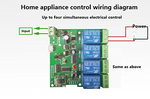 4 channel wifi momentary inching relay self-lock switch module,diy wifi  garage door