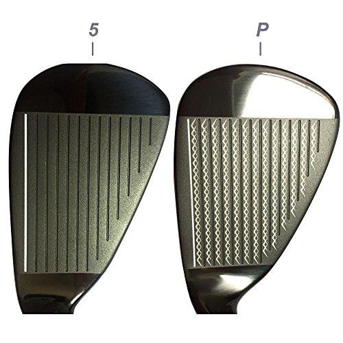 Japan WaZaki Black Finish WL-IIs 4-SW Combo Hybrid Irons USGA R A Rules Golf Club Set + Headcover(pack of 16,Regular Flex) by wazaki (Image #5)