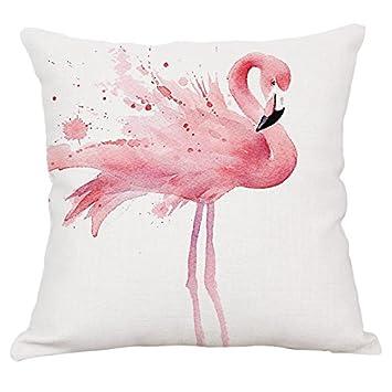 Amazon.com: NaNa - Funda de cojín de lino y algodón con ...