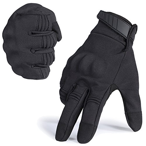 Tactical Glove Hard Knuckle Screen Touch Gloves for Military Shooting Cycling Riding Motorcycle Airsoft Paintball Gear(Black, L)
