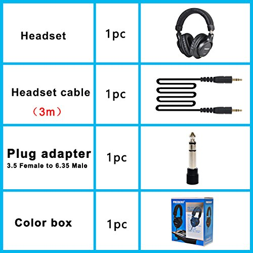 Freeboss FB-777 40mm Drivers Single-side Detachable cable 3.5mm Plug 6.35mm adapter Monitor Headphones by Freeboss (Image #6)