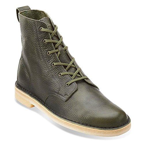 Clarks Mens Öken Mali Chukka Boots 15385 Blad Grönt Läder