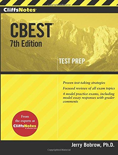 Pdf Test Preparation CliffsNotes Cbest, 7th Edition (Cliffs Test Prep Cbest)