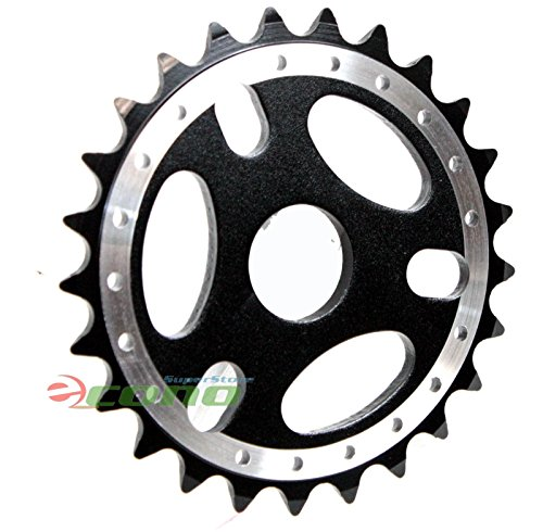 BMX Mountain Bicycle Bike Sprockets Chainring Alloy 6061T 23.8mm 25T Sprocket (Black Color)