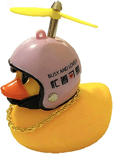 Car Bicycle Decorate Lovely Small Yellow Duck With Sound Helmet Outdoor Sports√*