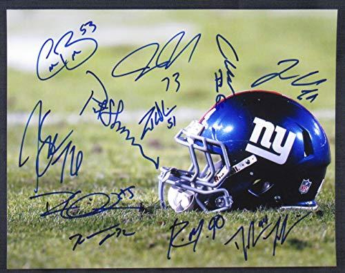 (New York Giants Signed 11x14 Photo Pat Shurmur Zak DeOssie +8)