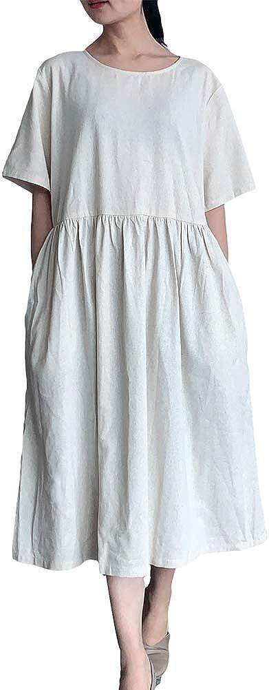 Shift Dress Black Beige Dress Linen Dress With Two Colors Midi Dress Long Sleeve Dress Plus Size Clothing Party Dress Loose Dress