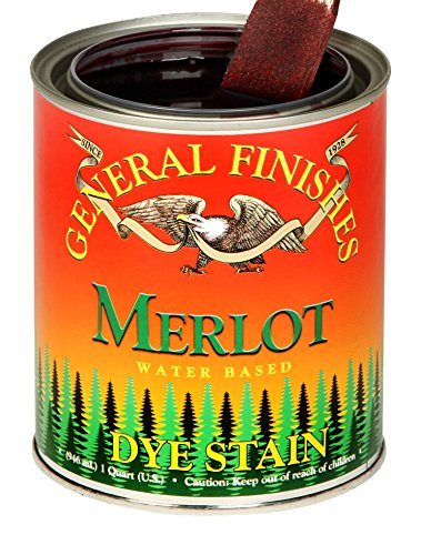 (General Finishes DQT Water Based Dye, 1 Quart, Merlot)