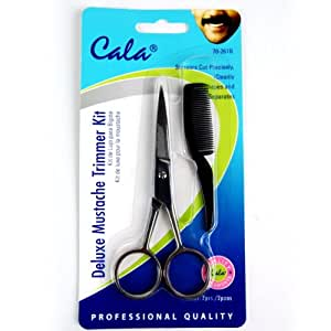 Elixir Beauty Cala Deluxe Mustache Trimmer Kit Scissors & Comb Trimming Kit