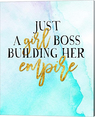 Girl Boss by Amy Cummings Canvas Art Wall Picture, Gallery Wrap, 16 x 20 - Women Pictures Cumming