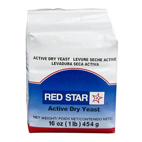 TableTop King Lesaffre Red Star Bakers Active Dry Yeast 1 lb. Vacuum Pack - 20/Case