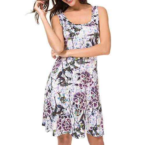 Rakkiss_Vintage Dress Sexy Sleeveless O-Neck Print Party Prom Swing Short Skirt