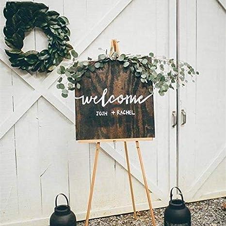 Custom Welcome Wedding Board Etiqueta de La Pared Novia Y ...