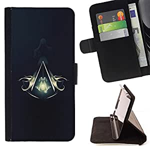 For Samsung Galaxy S3 Mini I8190Samsung Galaxy S3 Mini I8190 Assassins Logo Crest Style PU Leather Case Wallet Flip Stand Flap Closure Cover