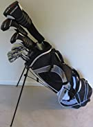 "Tall Mens Complete Golf Set Clubs Fits Men 6'0""- 6'6"" Tall Driver, Fairway Wood, Hybrid, Irons, Putter, Stand Bag"