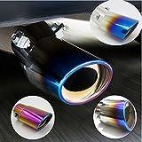 Sedeta Universal Fits Slant Burnt Stainless Steel Exhaust Tail Muffler Tip Pipe Muffler Tip Pipe exhaust tip Roasted Blu