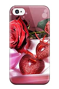 Durable Defender Case For Iphone 4/4s Tpu Cover(god Loves)