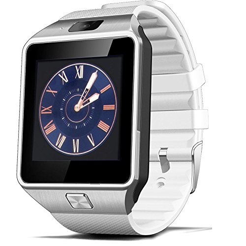 Price comparison product image EFOSHM Bluetooth Smart Watch with Camera for Samsung S5 / Note 2 / 3 / 4, Nexus 6, Htc, Sony and Other Android Smartphones (White)