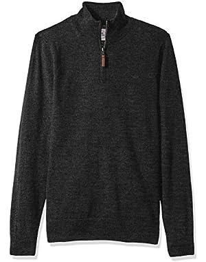 Men's Long Sleeve 1/4 Zip Merino Sweater