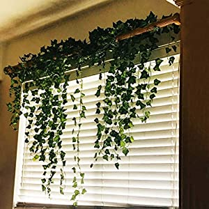 Fake Vines Ivy Leaves Garland 24 Strands-168Ft Artificial Plants Greenery Garland Faux Green Hanging Plant Flowers Vine for Wall Party Wedding Room Home Kitchen Lndoor & Outdoor Decor 6