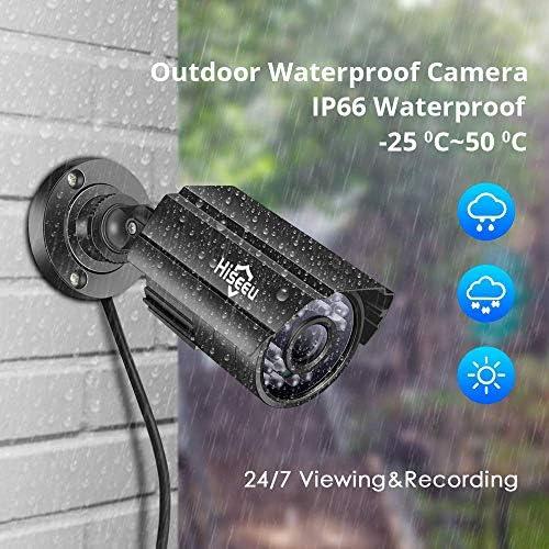 【5MP 8Channel】Hiseeu Security Camera System,H.265+ 8CH DVR + 4Pcs AHD Cameras,Global Phone&PC Remote,Human Detect Alarm,98Ft Night Vision,IP66 Waterproof,24/7 Recording,Easy Setup,Plug & Play,1TB HDD 51KqVju4s4L
