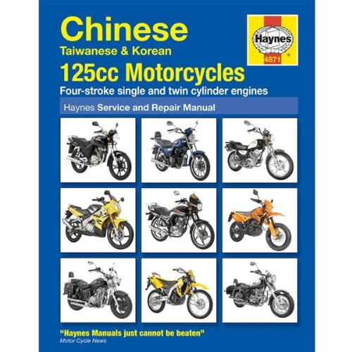 Haynes Chinese Motorcycle Service & Repair Manual 4871 for Lexmoto Valiant 125 CMPO