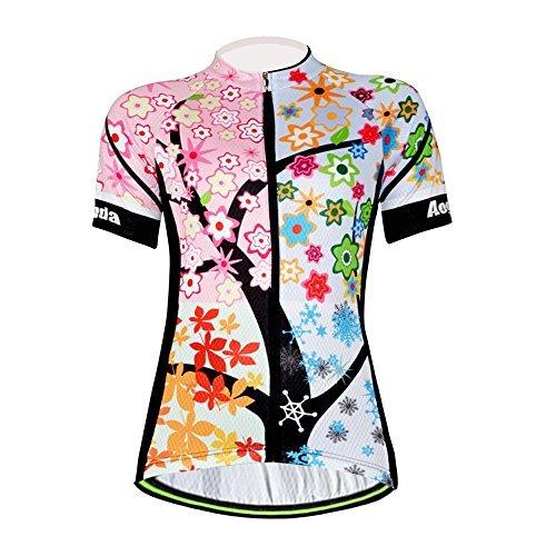 (Aogda Cycling Jerseys Women Bike Shirts Bicycle Bib Shorts Ladies Biking Pants Tights Clothing (Jerseys 1, M))