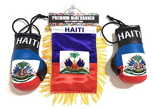 - Haitian, Haiti Flag, 3pc Haitian Flag Boxing Glove and Patch