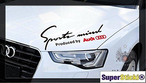 Sportmind Sport Mind by Audi 30 cm Aufkleber Autoaufkleber Tuningaufkleber von SUPERSTICKI/® aus Hochleistungsfolie f/ür alle glatten Fl/ächen UV und Waschanlagenfest Tuning Profi Qualit/ät Auto KFZ Scheibe Lack Profi-Qualit/ät Tuning