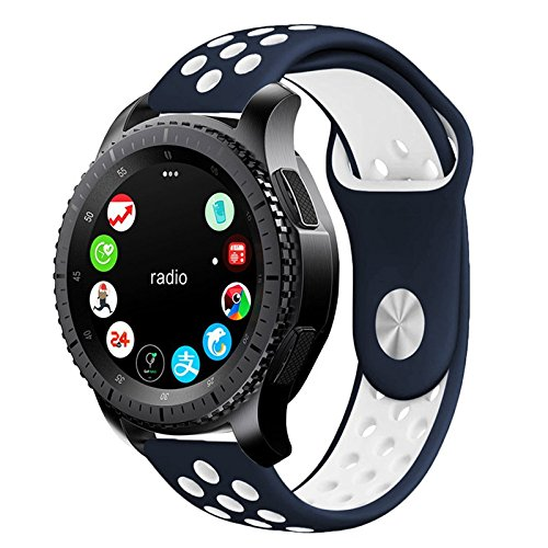 Amazon.com: For Gear S3 Sport Band, Soft Silicone Watch Band ...