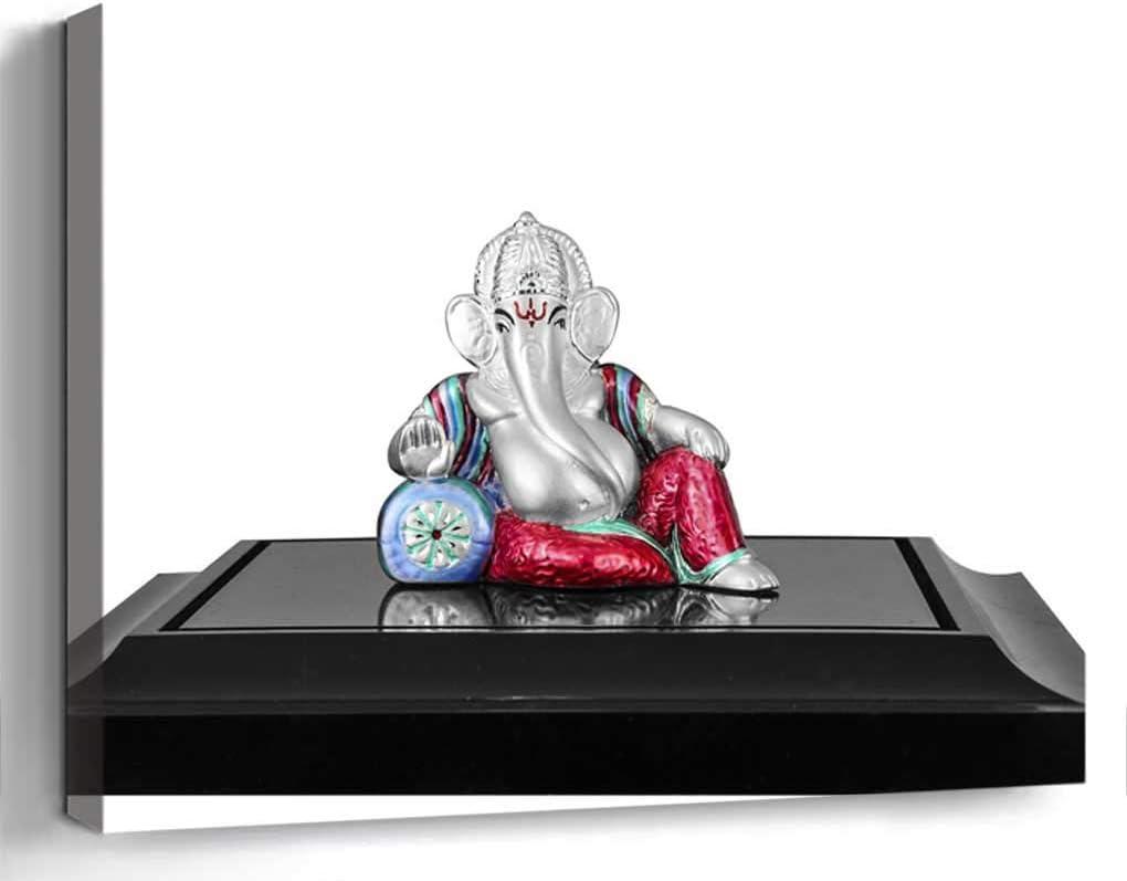 Amymami Wall Art Print Canvas Framed Artwork Home Decor(20x16 in)- Ganesh Ganesha Lord God Idol Hindu Religion