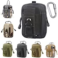 Tactical Molle EDC Pouch Compact 1000D Multipurpose Utility Gadget Belt Waist Bag with Cell Phone Holster Holder