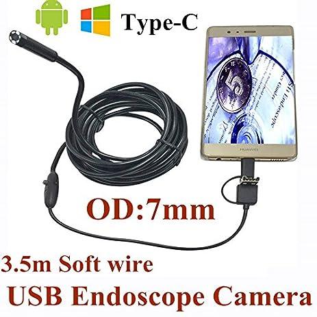 Amazon.com: Minritech 3 in 1 USB Endoscope Camera 3.5M Soft Wire ...