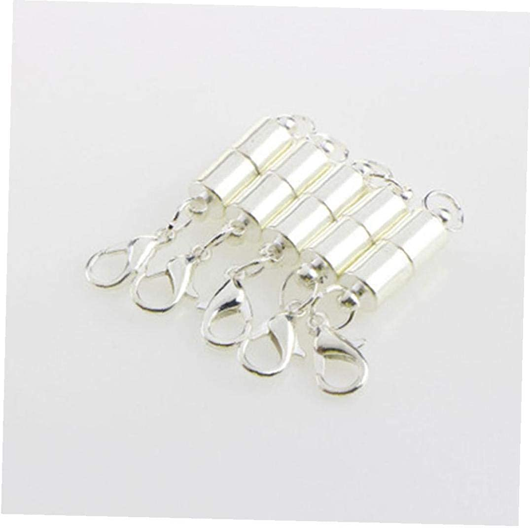 5pcs//Set Oval-Shaped Metal Magnet Clasp and Lobster Clasp Gold-Plated Necklace Bracelet Link Accessories Button