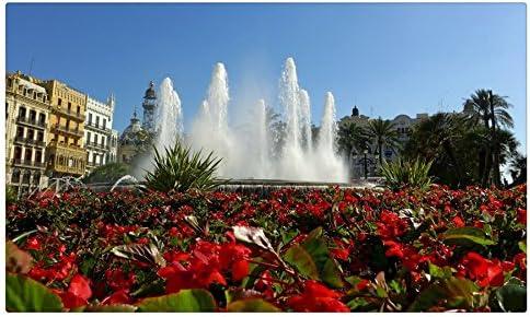 España Fuentes Begonia Valencia ciudades sitios de viajes postal Post tarjeta: Amazon.es: Oficina y papelería