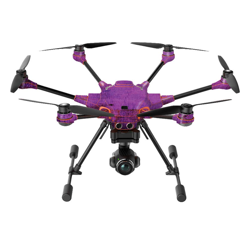 MightySkins Skin Compatible with Yuneec H520-G Quadcopter Drone - Purple Sky | Protective, Durable, and Unique Vinyl Decal wrap Cover | Easy to Apply, Remove, and Change Styles | Made in The USA