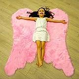 baby girl bedroom ideas Super Soft Angel Wings Faux Fur Rug for Girls Room Faux Sheepskin Rug Gift Idea for Kid's Room,Childrens Bedroom, Baby,Nursery, Living Room (Light Pink, 31 x 40 inch)