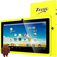 Worryfree Gadgets 7DRK-Q-YELLOW 7IN ANDROID 4.4 4GB BT DUAL CAMERA WIFI