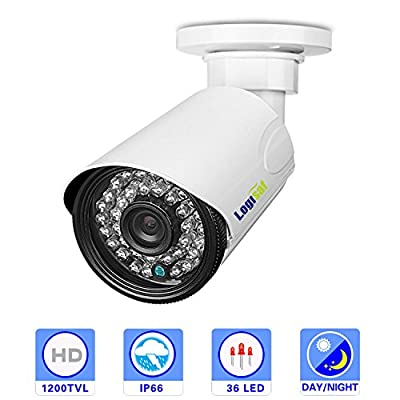 Logisaf HD 1200TVL CCTV Security Home Video Surveillance Camera 3.6mm Lens IR CUT Night Vision Bullet Camera by Cloud Mall that we recomend personally.