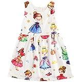 Comcrib 3-10 Years Girls Summer Princess Dress Vest Dress New Children's Clothing Cartoon Children's Skirt