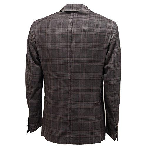 Uomo Brando 7329l Jackets Giacca Coats Grigio Lana Giacche Men 5wvvZxTE