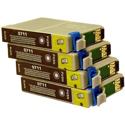 4 CiberDirect - Cartuchos de tinta para impresoras Epson Stylus ...