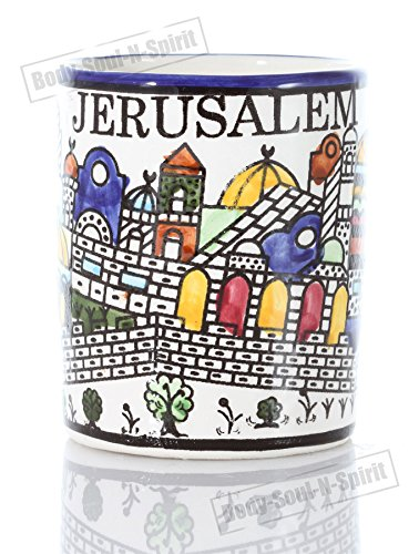 (Ceramic Coffee Mug Jerusalem Holy Land Judaica Kabbalah Jewelry Gift Armanian)