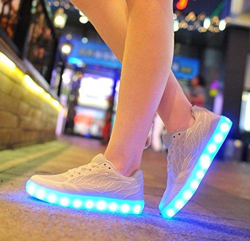 Respirables de Zapatos de Caramelo de luz Deportivos Zapatos Ligeros Zapatillas Verano Blanco Deporte Zapatos Color LED de Zapatos Femeninas Bt044wIZq