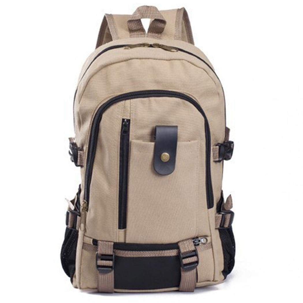 Tauser Mochila para hombres Mochila para estudiantes de lona de alpinismo de viaje informal Bolsas de viaje