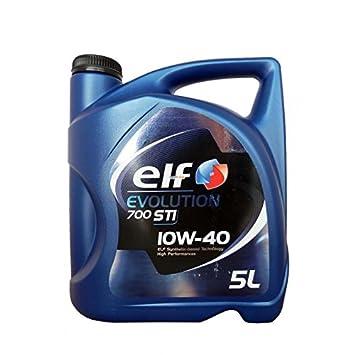 Aceite lubricante coche Elf Evolution 700 STI 10W40 5 litros.: Amazon.es: Coche y moto