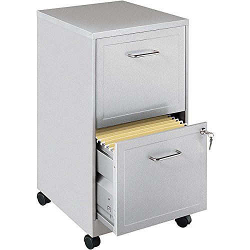 Metro Shop Office Designs Metallic Silver 2-drawer Mobile File Cabinet (File Cabinet Metallic)