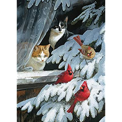 Cobble Hill Bird Watchers Jigsaw Puzzle (1000 Piece): Toys & Games