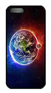 iPhone 5 5S Case Universe planet N001 PC Custom iPhone 5 5S Case Cover Black